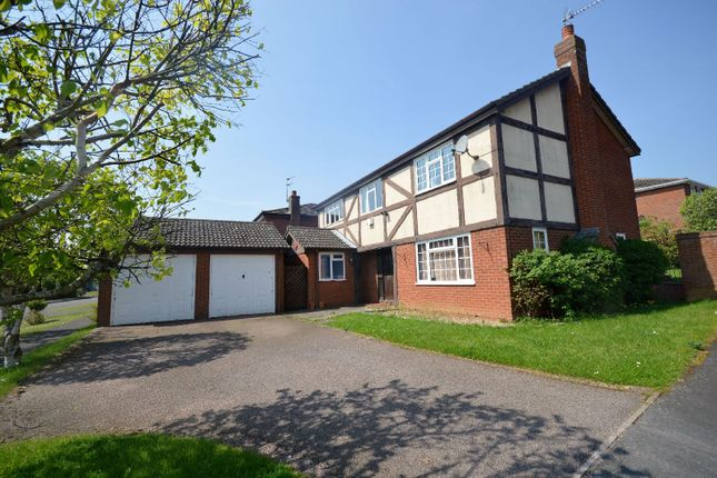 Thumbnail Detached house for sale in Bridgewater Drive, Great Glen, Leicester