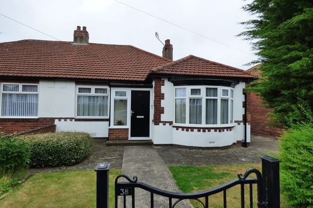 Thumbnail Semi-detached bungalow for sale in Huntcliffe Gardens, Newcastle Upon Tyne