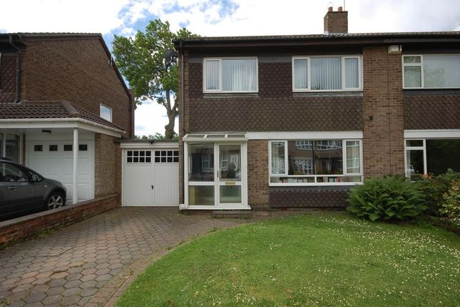 Thumbnail Semi-detached house for sale in Woodside Crescent, Forest Hall, Newcastle Upon Tyne