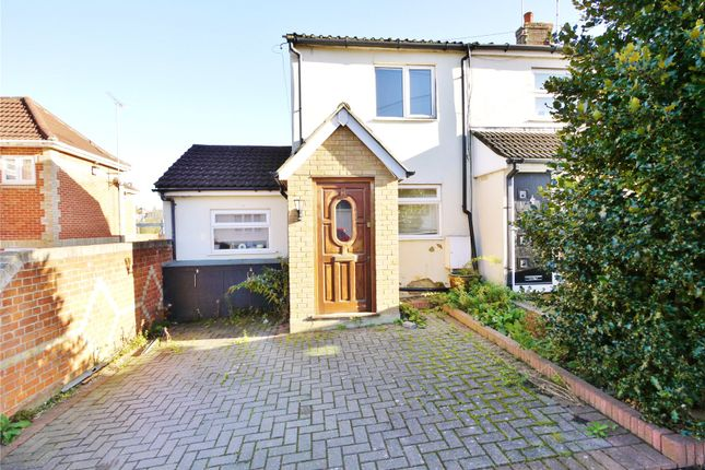 Thumbnail End terrace house for sale in Milton Road, Warley, Brentwood, Essex
