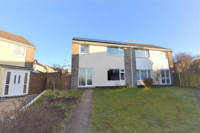 Thumbnail Semi-detached house to rent in Longfield Close, Callington, Cornwall