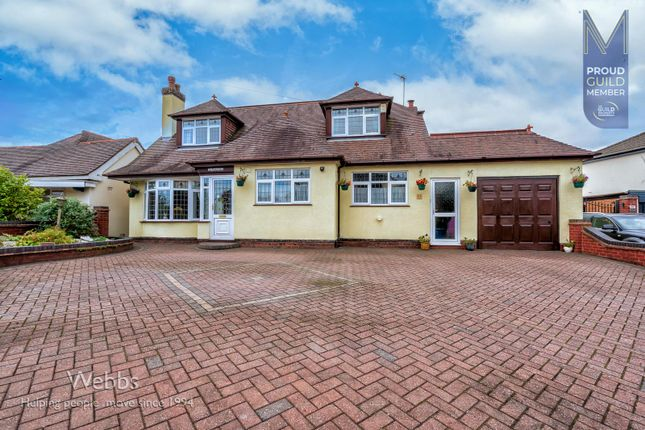 Thumbnail Detached bungalow for sale in Walsall Road, Churchbridge, Cannock