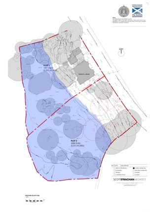 Site Plan of Land Glendevon, Dollar, Clackmannanshire 7Jy, UK FK14