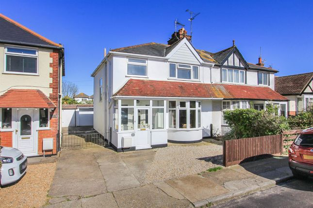 Thumbnail Semi-detached house for sale in Baddlesmere Road, Tankerton, Whitstable