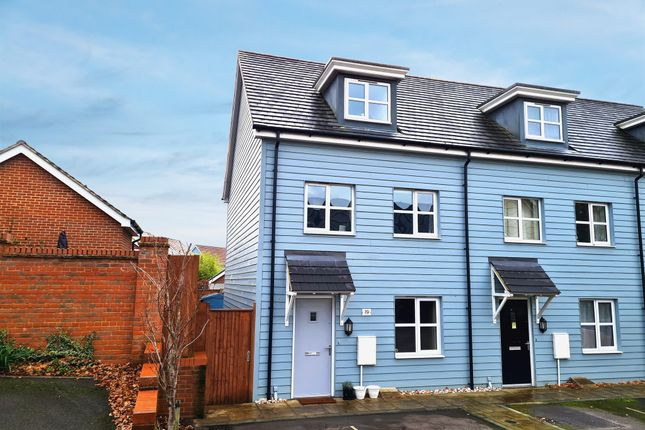 Thumbnail End terrace house for sale in Larkspur Drive, Burgess Hill