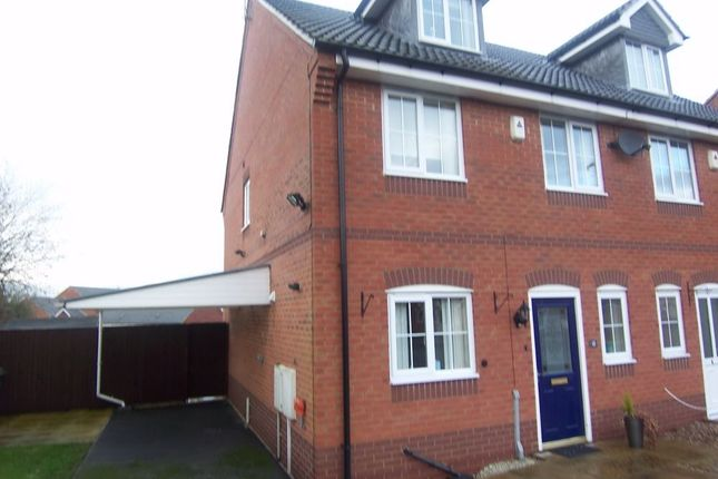 Thumbnail Semi-detached house to rent in Mulberry Close, Mansfield, Nottinghamshire