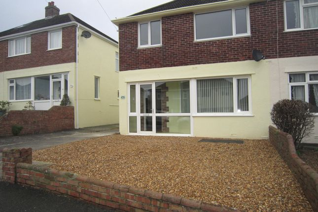 Thumbnail Semi-detached house to rent in St Margarets Road, Plympton