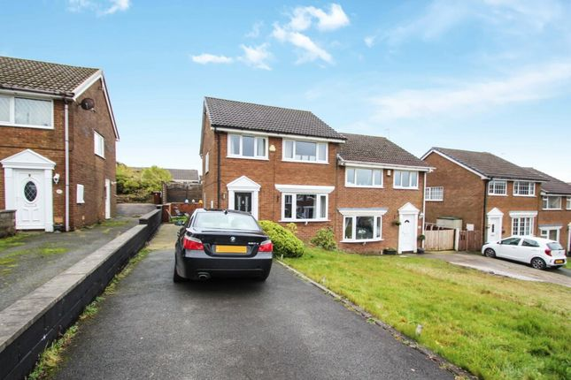 Thumbnail Semi-detached house for sale in Foxdale Close, Bacup, Rossendale