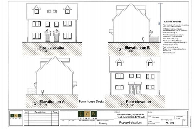 Thumbnail Semi-detached house for sale in Former Old Mill, Pontamman, Ammanford, Carmarthenshire.