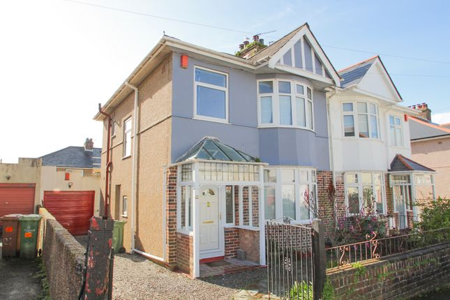 Thumbnail Semi-detached house for sale in Peverell Terrace, Peverell, Plymouth