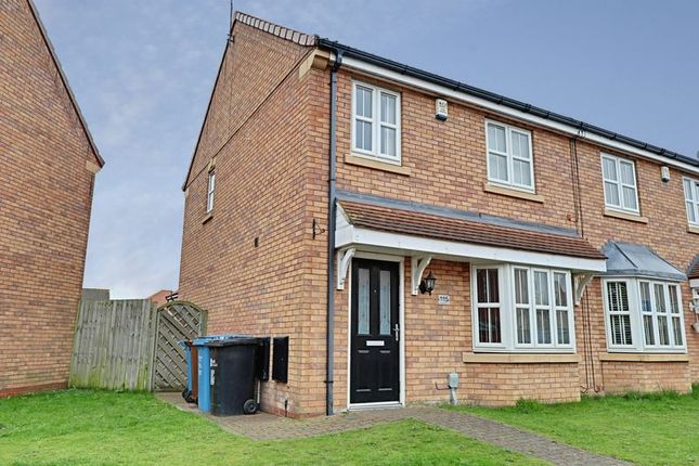 Thumbnail Semi-detached house to rent in Pools Brook Park, Kingswood, Hull