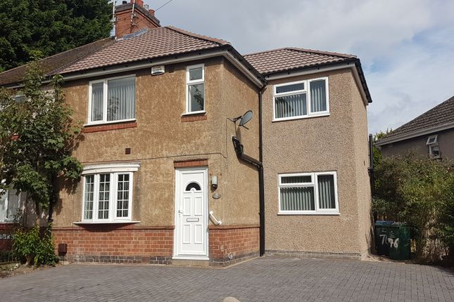 Thumbnail Semi-detached house to rent in Gerard Avenue, Canley, Coventry