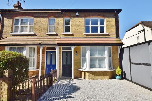 Thumbnail Semi-detached house to rent in Burtons Road, Hampton Hill
