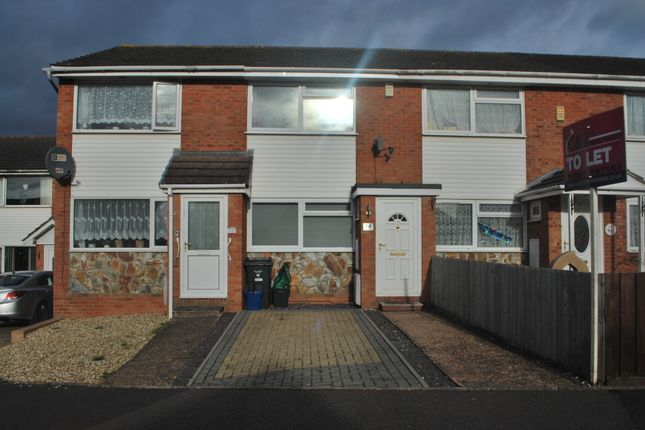 Thumbnail Terraced house to rent in Spruce Close, Exmouth