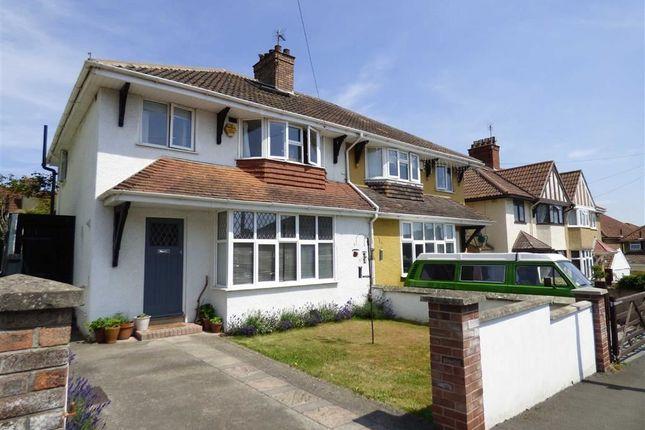 Thumbnail Semi-detached house for sale in Farm Road, Weston-Super-Mare