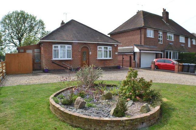 Thumbnail Detached bungalow for sale in Sapcote Road, Burbage, Hinckley