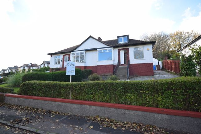 Thumbnail Semi-detached bungalow for sale in Merryburn Avenue, Giffnock, Glasgow