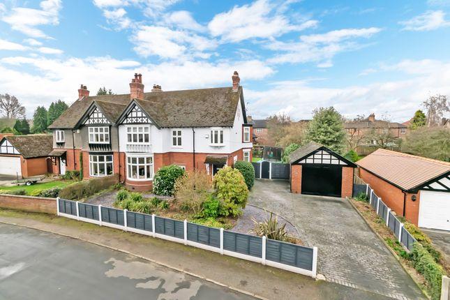 Thumbnail Semi-detached house for sale in Marlborough Crescent, Stockton Heath, Warrington, Cheshire