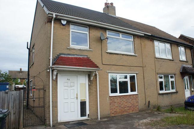 Thumbnail Semi-detached house for sale in 49 Clay Flat Lane, New Rossington, Doncaster