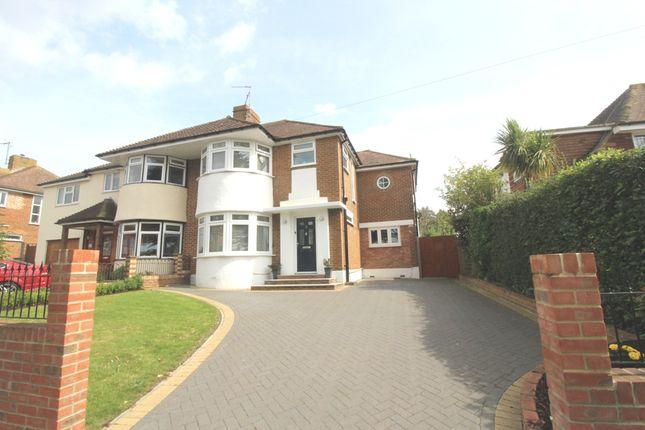 Thumbnail Semi-detached house for sale in Freeman Avenue, West Hampden Park, Eastbourne