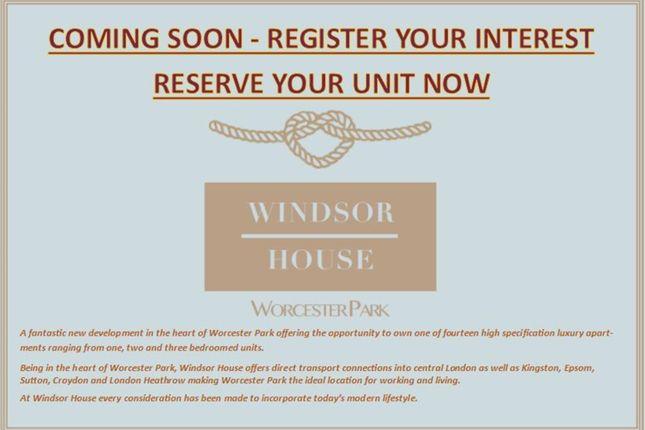 Thumbnail Flat for sale in Windsor House, Windsor Road, Worcester Park