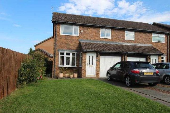 Thumbnail Semi-detached house for sale in Ingham Grove, Northburn Glade, Cramlington