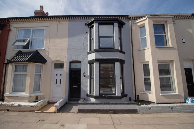 Thumbnail Terraced house to rent in Ridley Road, Liverpool, Merseyside