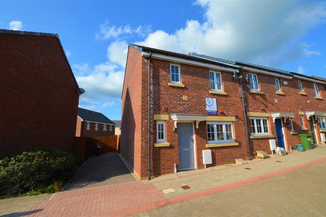 Thumbnail End terrace house for sale in Lonydd Glas, Llanharan, Pontyclun