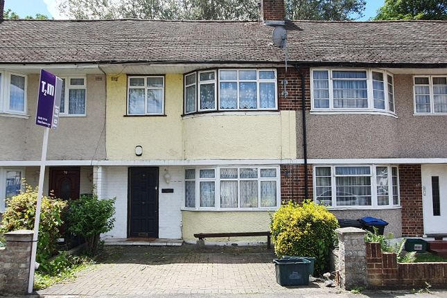 Thumbnail Terraced house to rent in Riverside Drive, Mitcham
