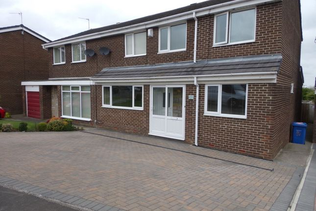 Thumbnail Semi-detached house for sale in Newlyn Drive, Cramlington