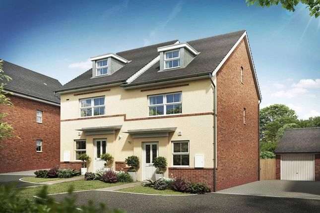 "Thumbnail Semi-detached house for sale in ""Kingsville"" at Briggington, Leighton Buzzard"