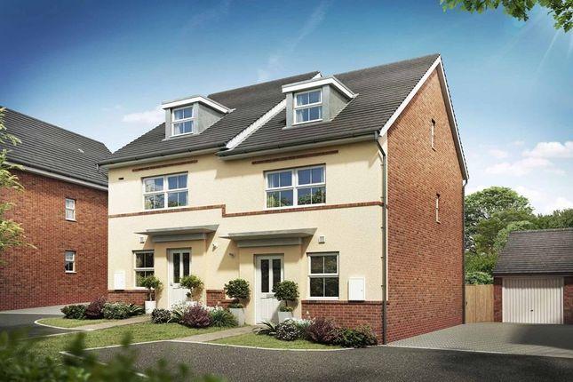 "Thumbnail Semi-detached house for sale in ""Kingsville"" at Sagan Rise, Leighton Buzzard"