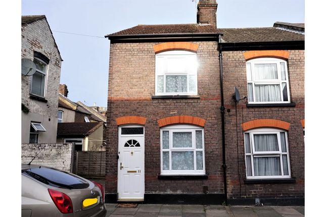 Thumbnail End terrace house for sale in Cowper Street, Luton