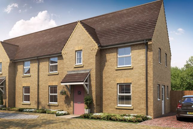 "Thumbnail End terrace house for sale in ""Charnwood"" at Fen Street, Brooklands, Milton Keynes"