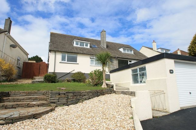 Thumbnail Semi Detached House For Sale In St Stephens Road Saltash Cornwall