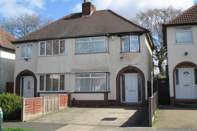 Thumbnail Semi-detached house to rent in Strathdene Road, Birmingham