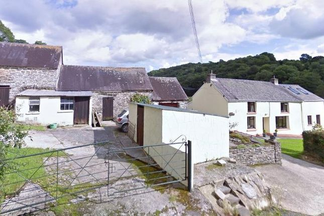 Thumbnail Farmhouse for sale in Lancych, Near Bwlchygroes, Carmarthenshire