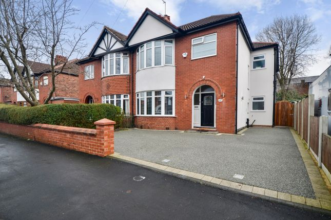 Thumbnail Semi-detached house for sale in Buckingham Road, Heaton Moore, Stockport