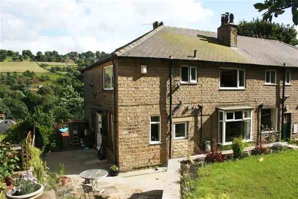 Thumbnail End terrace house for sale in High Trees, Lower Brockwell Lane, Triangle, Sowerby Bridge