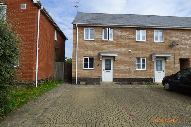 Thumbnail End terrace house to rent in Rushton Drive, Carlton Colville, Lowestoft