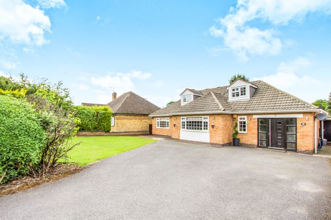 Thumbnail Detached bungalow for sale in The Fairway, Oadby, Leicester
