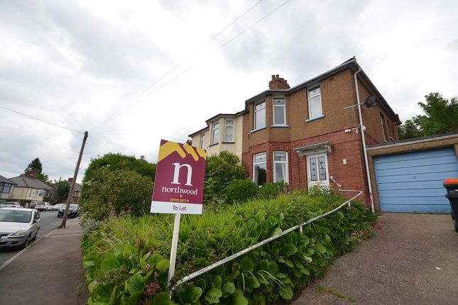 Thumbnail Semi-detached house to rent in Queens Hill Crescent, Newport