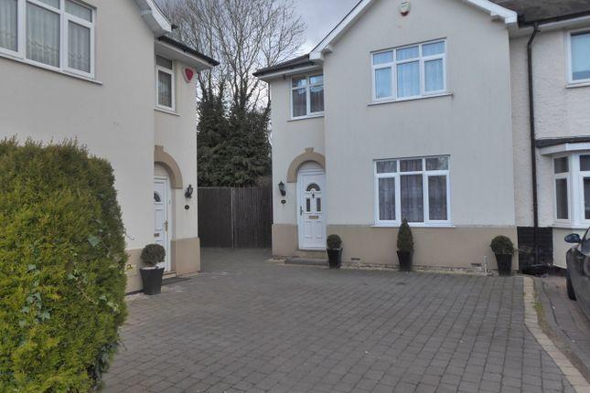 Thumbnail End terrace house for sale in The Croft, Northfield, Birmingham