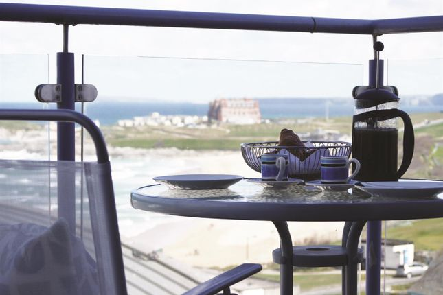 Thumbnail Flat for sale in Pentire Avenue, Newquay