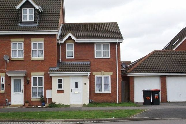 Thumbnail Terraced house to rent in Armstrong Drive, Bedford