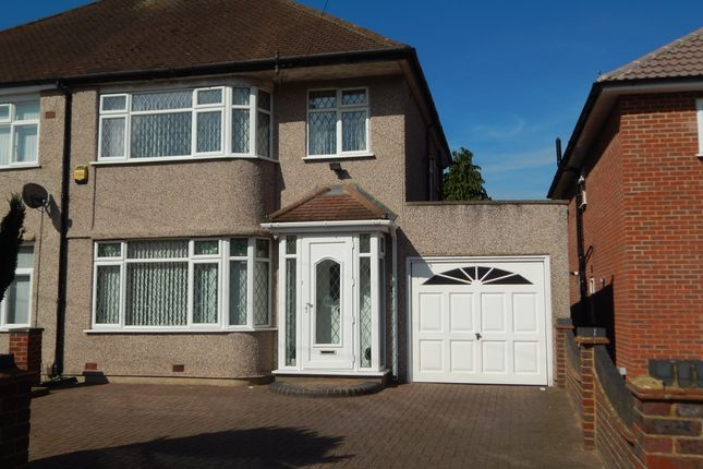 Thumbnail Semi-detached house to rent in Barnhill Close, Yeading