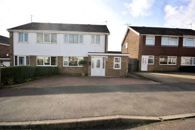 Thumbnail Semi-detached house for sale in Burns Close, Earls Barton, Northampton