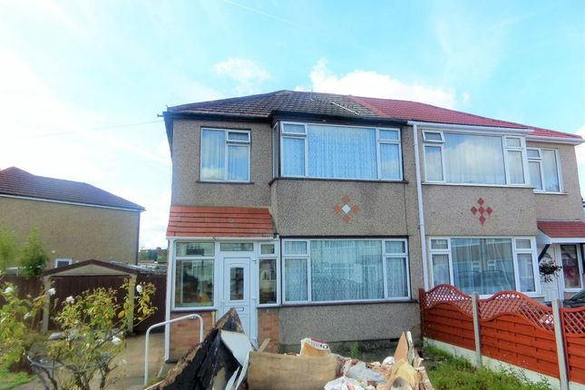 Thumbnail Semi-detached house to rent in Oakleigh Road, Uxbridge