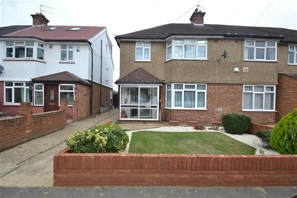 Thumbnail Semi-detached house to rent in Orchard Avenue, Feltham