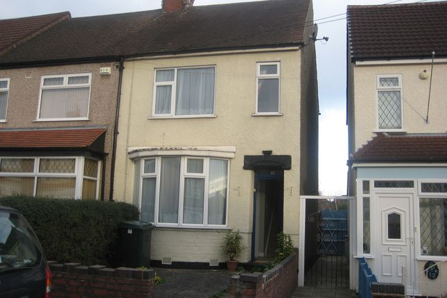 2 bed end terrace house to rent in Elgar Road, Coventry